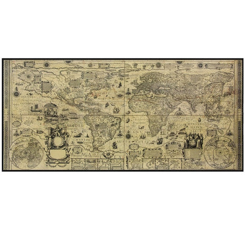 Authentic Models World Map Wooden Wall Art
