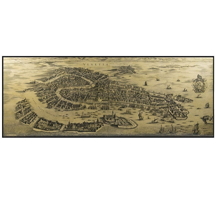Authentic Models 1694 Venice Wooden Map Wall Art