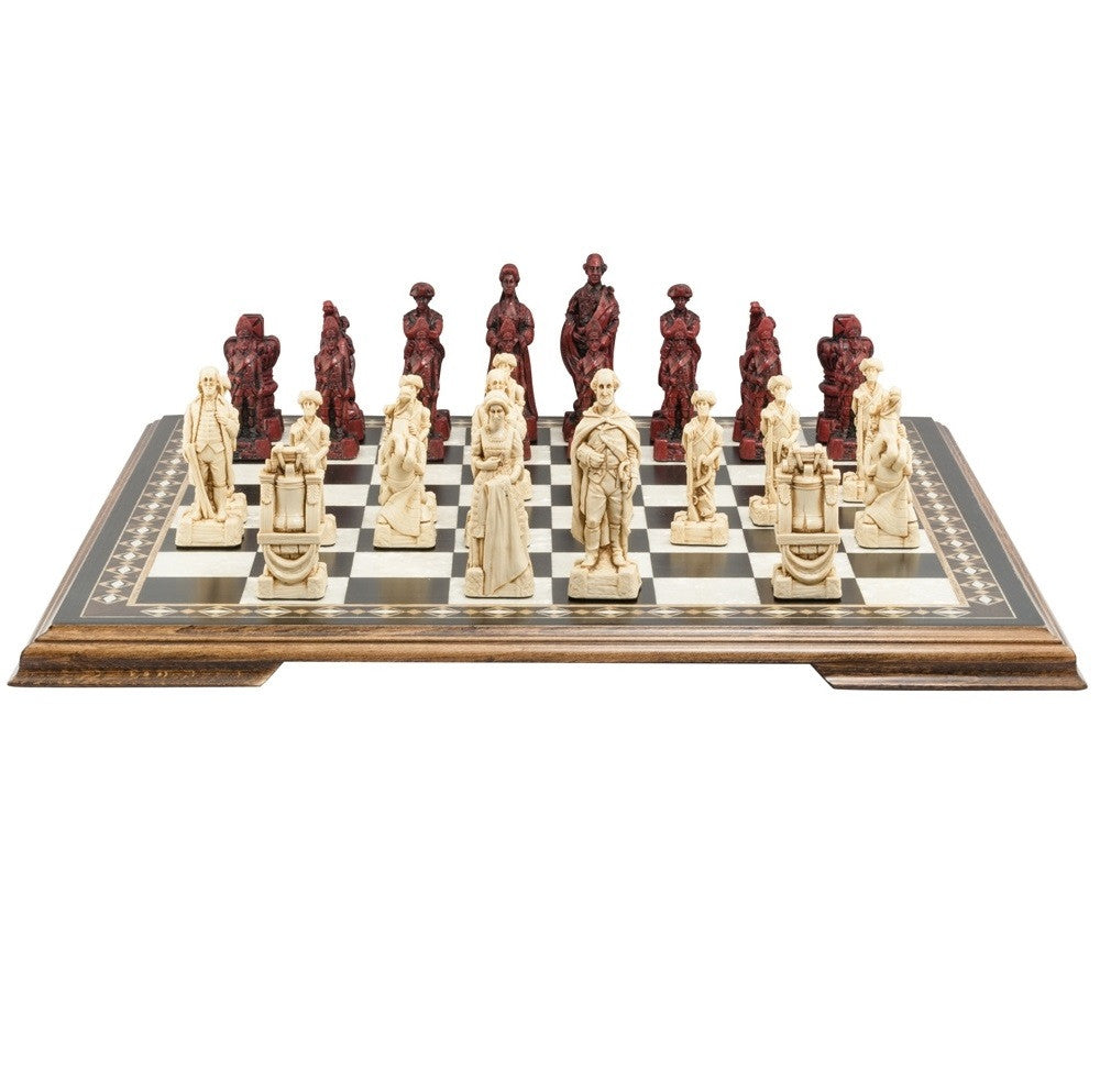 Studio Anne Carlton 'American Revolutionary War' Red/Ivory Chess Pieces (Playing Pieces Only)