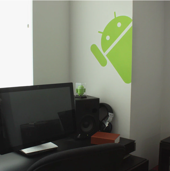 Giant Hidden Google Android Wall Sticker on Wall