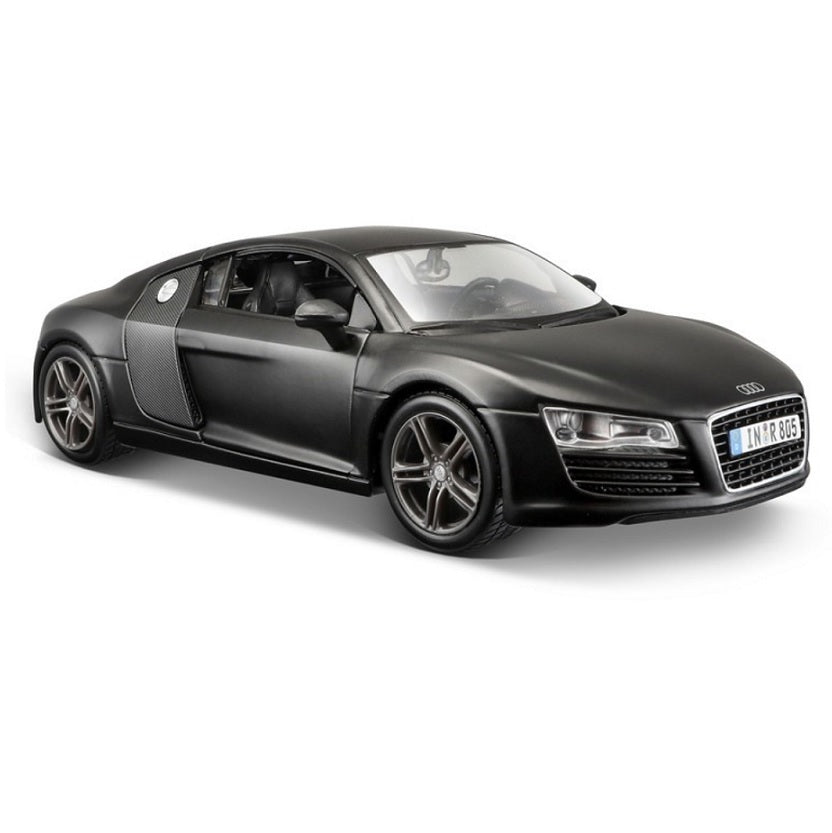 Audi R8 GT Black 1:24 Scale Car Matte Black Series