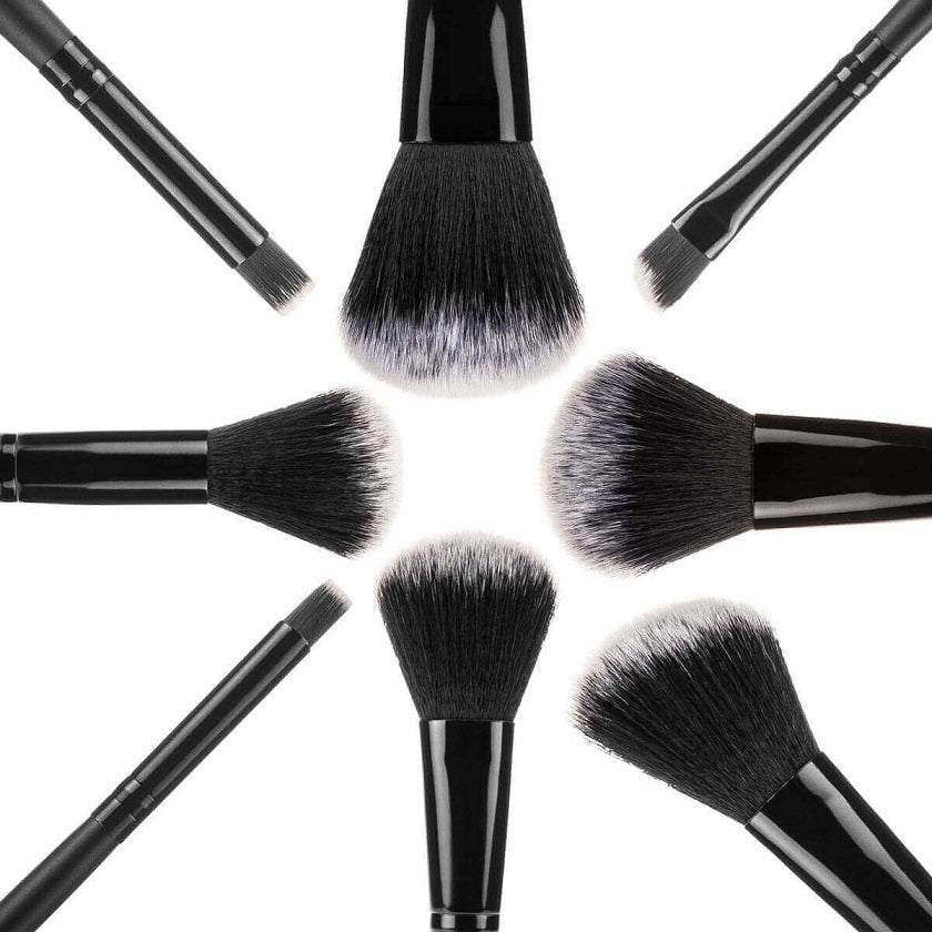 Savisto Premium 32 Piece Makeup Brush Set Black Close
