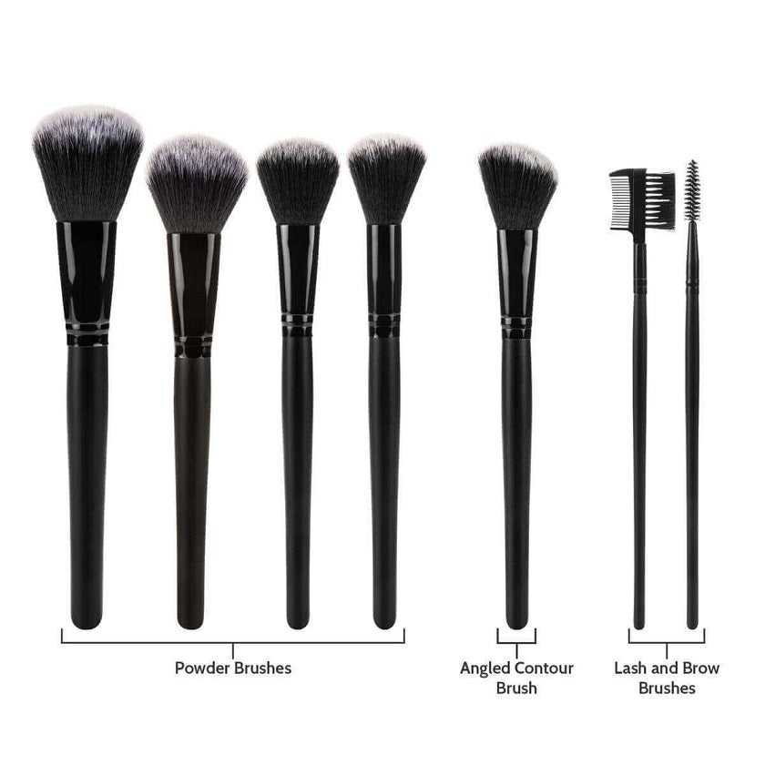 Savisto Premium 32 Piece Makeup Brush Set Black Powder brushes