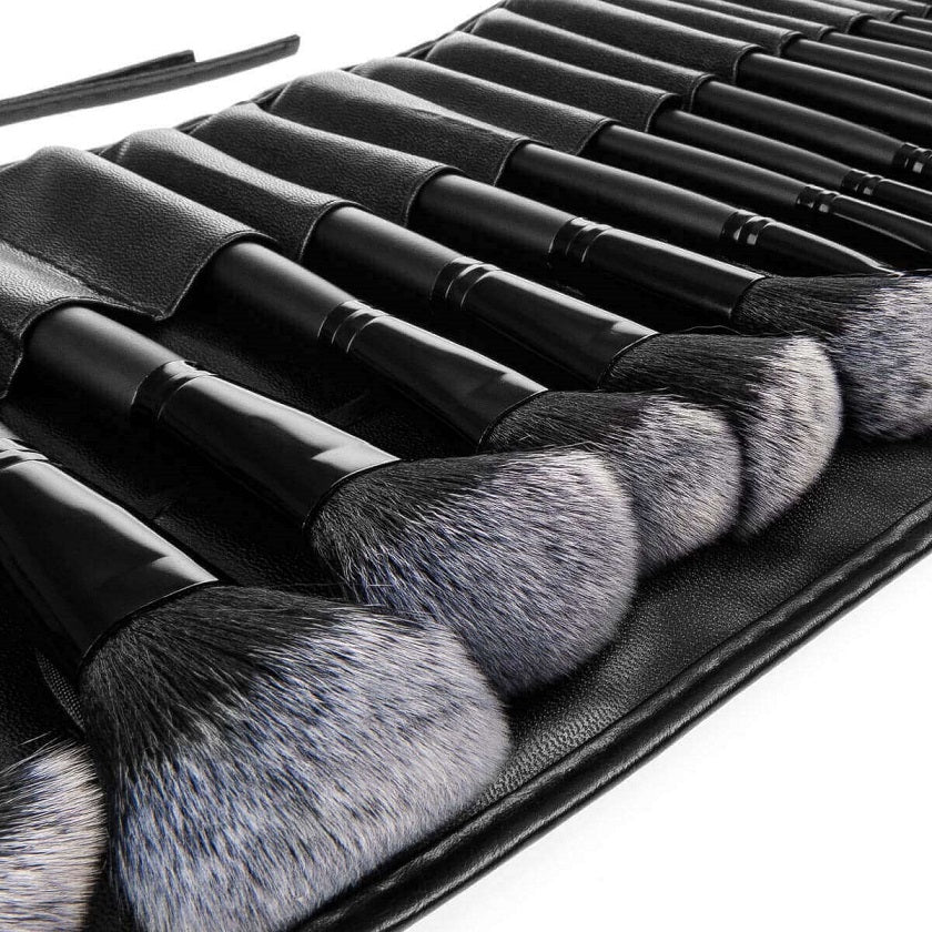 Savisto Premium 32 Piece Makeup Brush Set Black Brushes