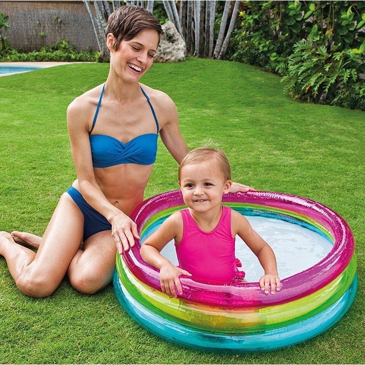 "Inflatable Baby Paddling Pool 34"" x 10"""