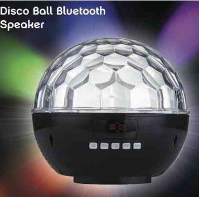 bluetooth disco ball speaker