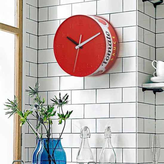 Tomato Sauce Tin Wall Clock by Balvi