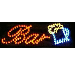 Steepletone LED 'BAR' Retro Style Sign