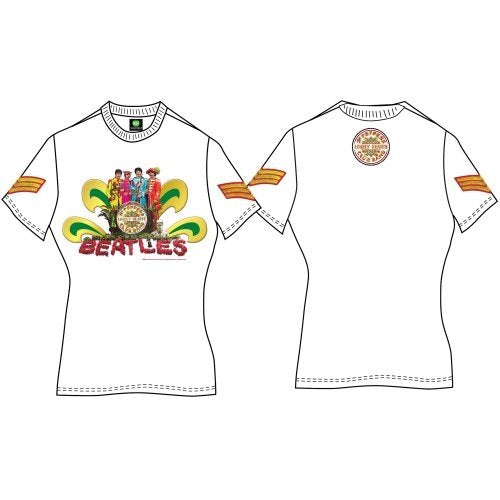 Official 'The Beatles' Sgt Peppers Lonely Hearts Club Band' Naked Ladies t-shirt (White)