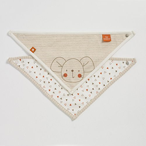Natures Purest 'Woodland Friends' 2 Pack Organic Dribble Bibs