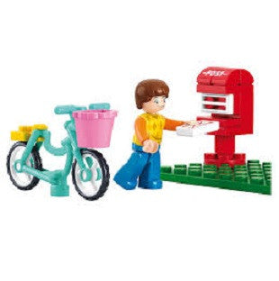 Sluban - Girl's Dream - Bike & Postbox  Building Bricks Set