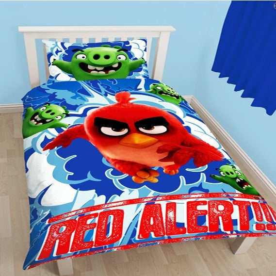 Official Angry Birds 'Red' Single Duvet & Pillow Case Bed Set