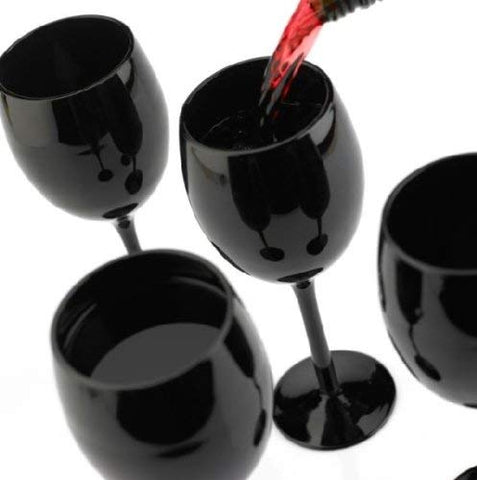 black wine glasses for tasting