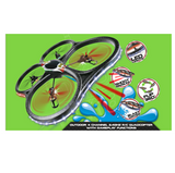 X-BLADEZ Stunt Quad ~ 4 Channel 2.4GHZ R/C Quadcopter ~ Gameplay functions ~ Blast Water ~ Shoot Missiles ~ Flip 360!