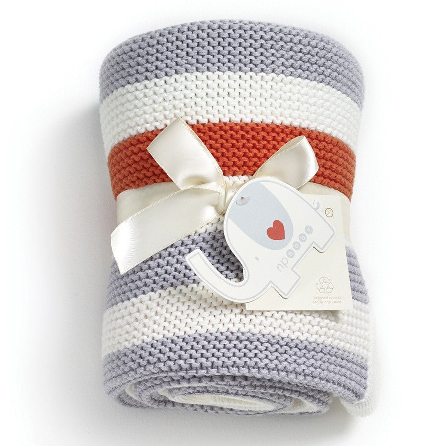 Natures Purest 'My First Friend' Striped Knitted Blanket
