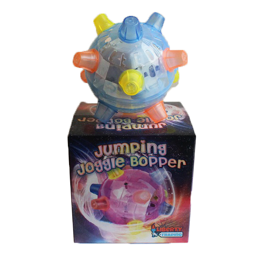 Jumping Joggle Bopper Flashing Blue with box