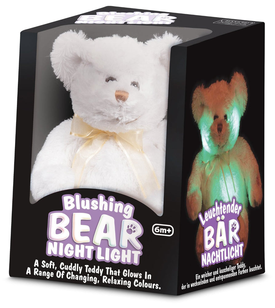 Soft White Teddy 'Blushing Bear' Night Light