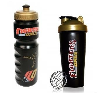 Fighters Only Sports Bottle & Shaker 2 Piece Set