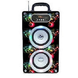 Steepletone Soundbox Speaker with Lights - Bubbles Design