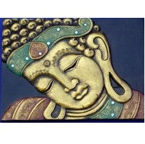 Sleeping Buddha Face gilt Wall Plaque * 40x30cm * Sunlover Buddhism