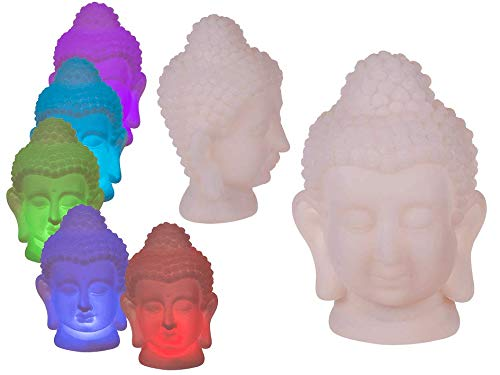 LED Light Colour Changing Thai Buddha Head Home Decoration Nightlight Gift 17cm