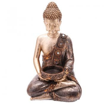 Thai Buddha Gold & Copper Tealight Holder