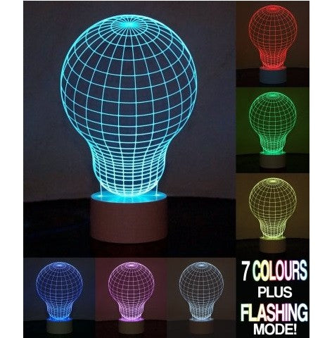 Optical Illusion 3D Bulb Lamp