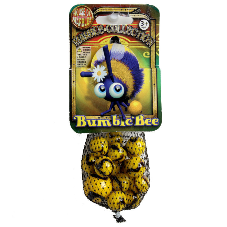 House of Marbles Bumble Bee Net Bag of Marbles