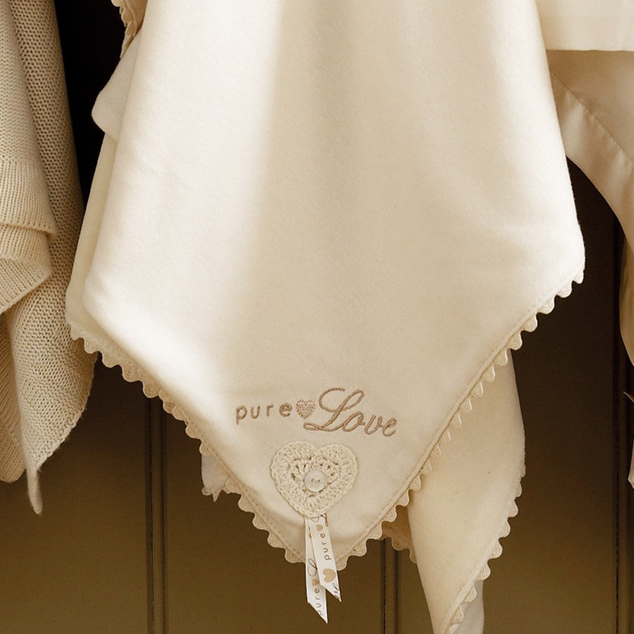 Natures Purest 'Pure Love' Velour Blanket
