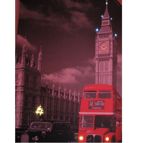 Steepletone London Red Bus Scene LED Picture