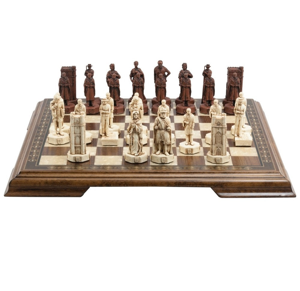 Studio Anne Carlton 'Cambridge V Oxford' Red/Ivory Chess Pieces (Playing Pieces Only)