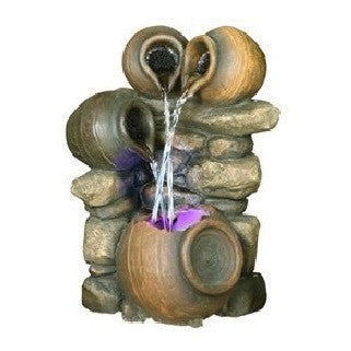 Carafe Cascade Fountain Water Feature with Multi-Colour LED