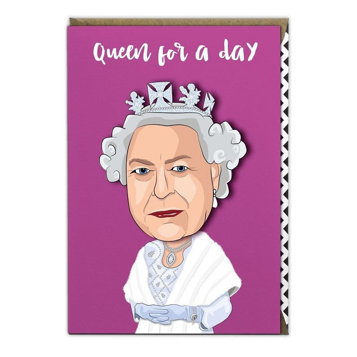 The Queen Famous Faces Decoupage Birthday Greeting Card