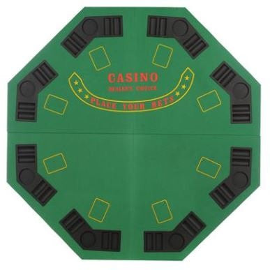 Green 4 Fold Casino Poker Table Board Game