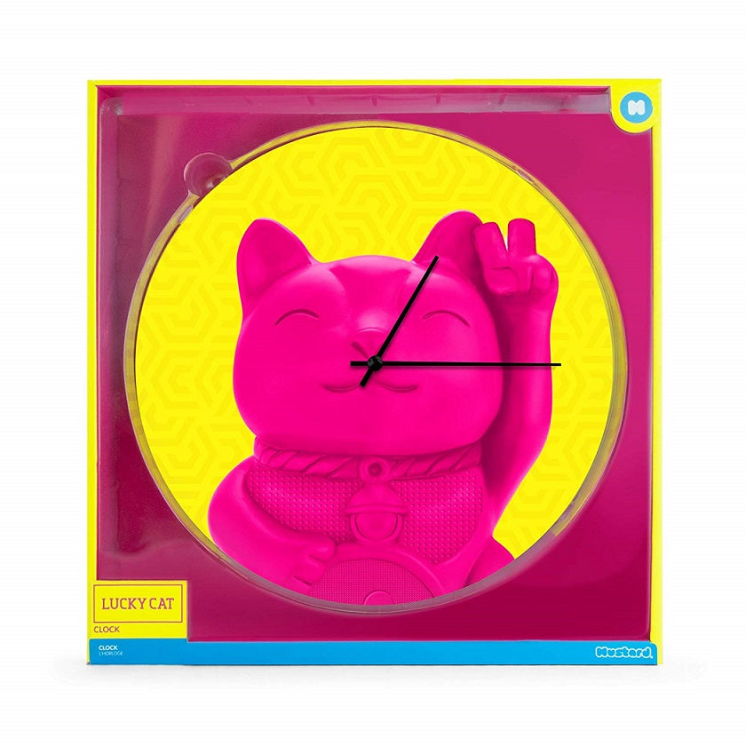 Lucky Cat Glass Wall Clock Box