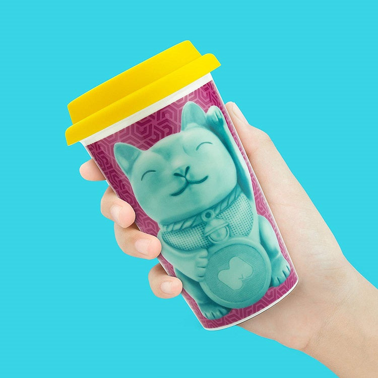 Lucky Cat Travel Mug by Mustard