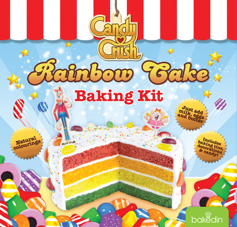Baked In Candy Crush Rainbow Cake Baking Kit - Make Your Own