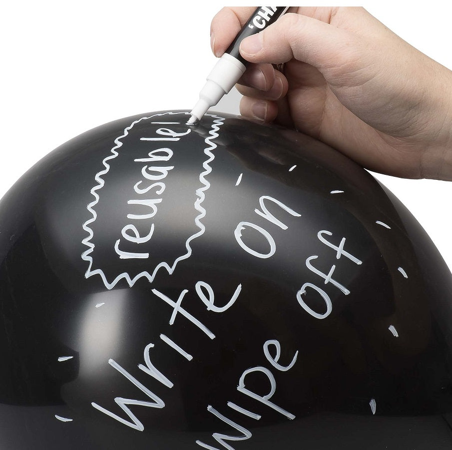 Chalkboard Balloons (20 pack) by NPW with Pen