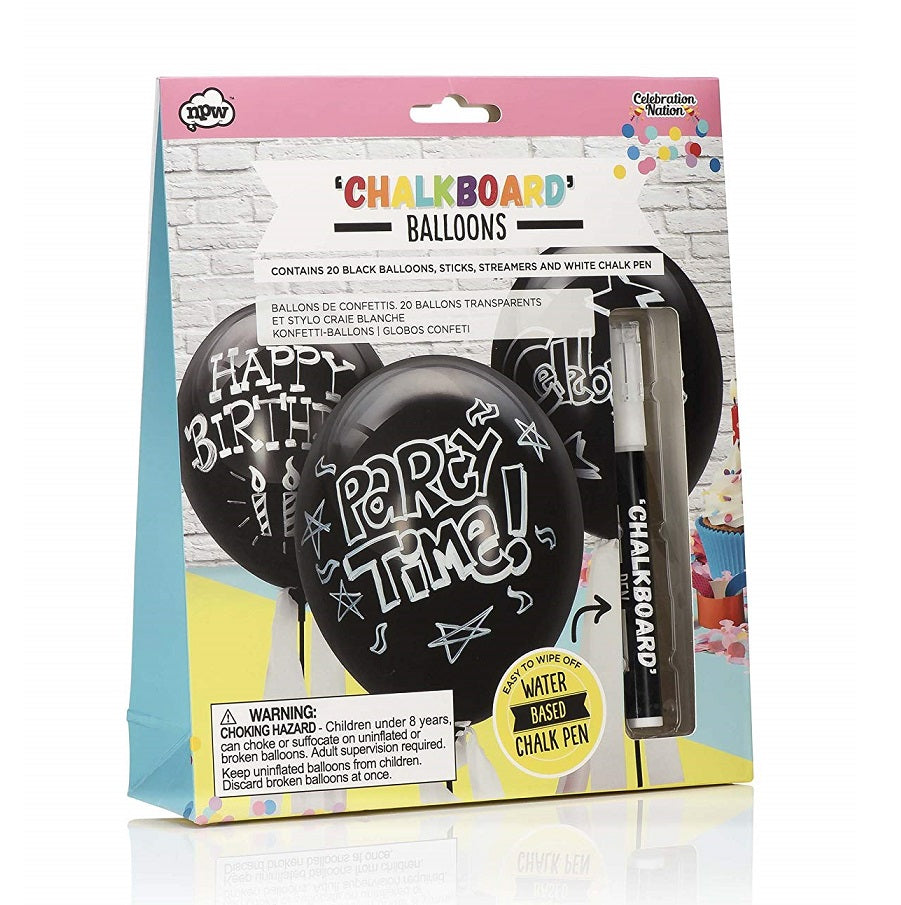 Chalkboard Balloons (20 pack) by NPW