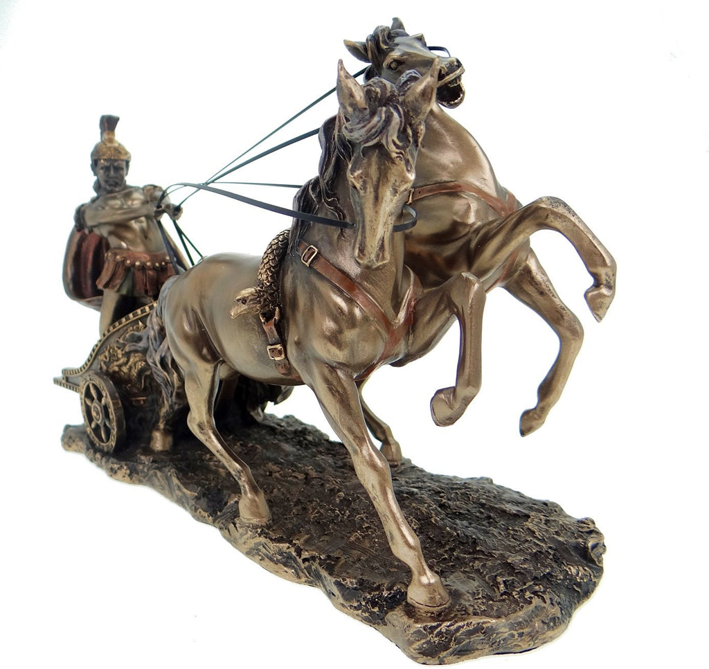 Roman Chariot Myths & Legends Bronze Sculpture