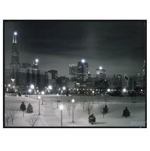 Steepletone Chicago Winter Snow LED Picture