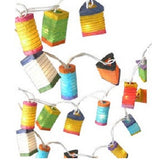 Mixed Colour Mini Chinese Paper Lantern Fairy Lights String