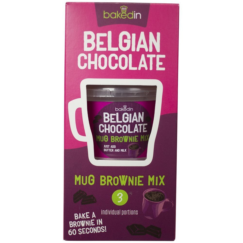Baked In Chocolate Brownie Mug Mix - Pack of 3