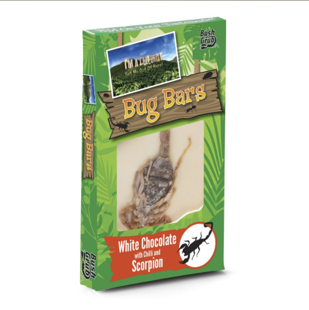 I'm A Celebrity Bush Grub - Bug Bars - White Chocolate with Chilli and Scorpion