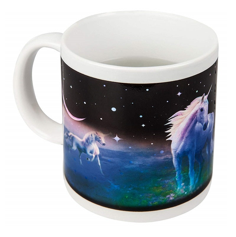 Unicorn Heat Colour Changing Mug Dark