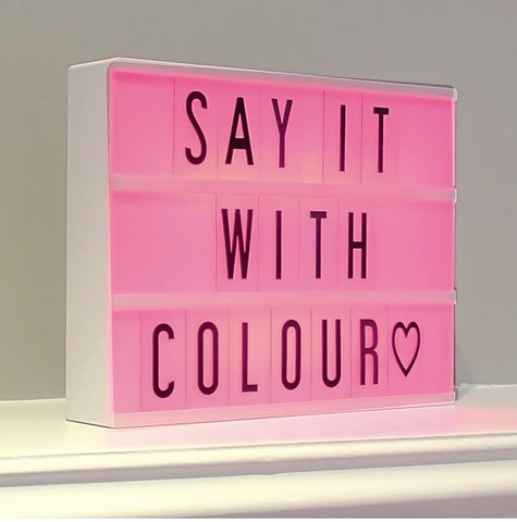 A4 Colour Changing Light Box