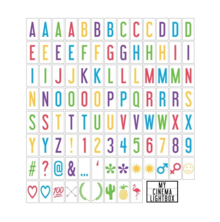 Colour Letter Pack - 100 Tiles
