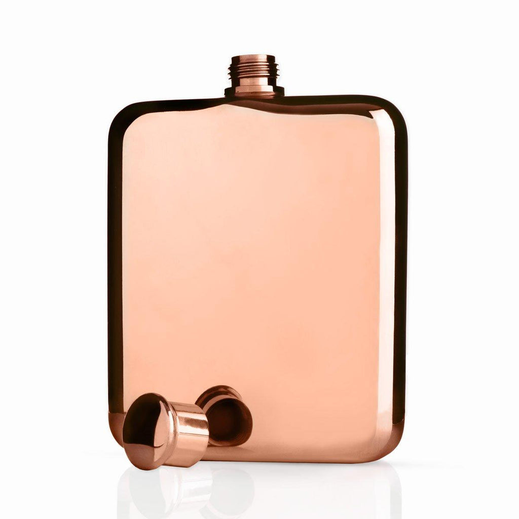 Viski Copper Finish Hip Flask