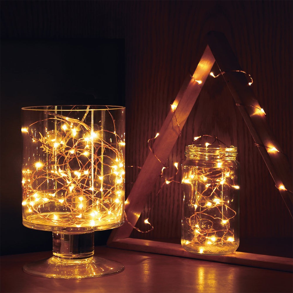Copper String Lights or Firefly String Lights that are LED String Lights
