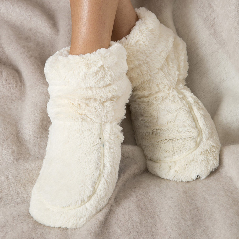 Warmies Lavender Scented Cozy Plush Cream Boots